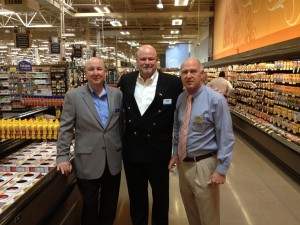 Phil Cagney, Kroger Regional, David Solana, CEO Roger Wood Foods and Bob Jones, Kroger Atlanta Merchandiser.